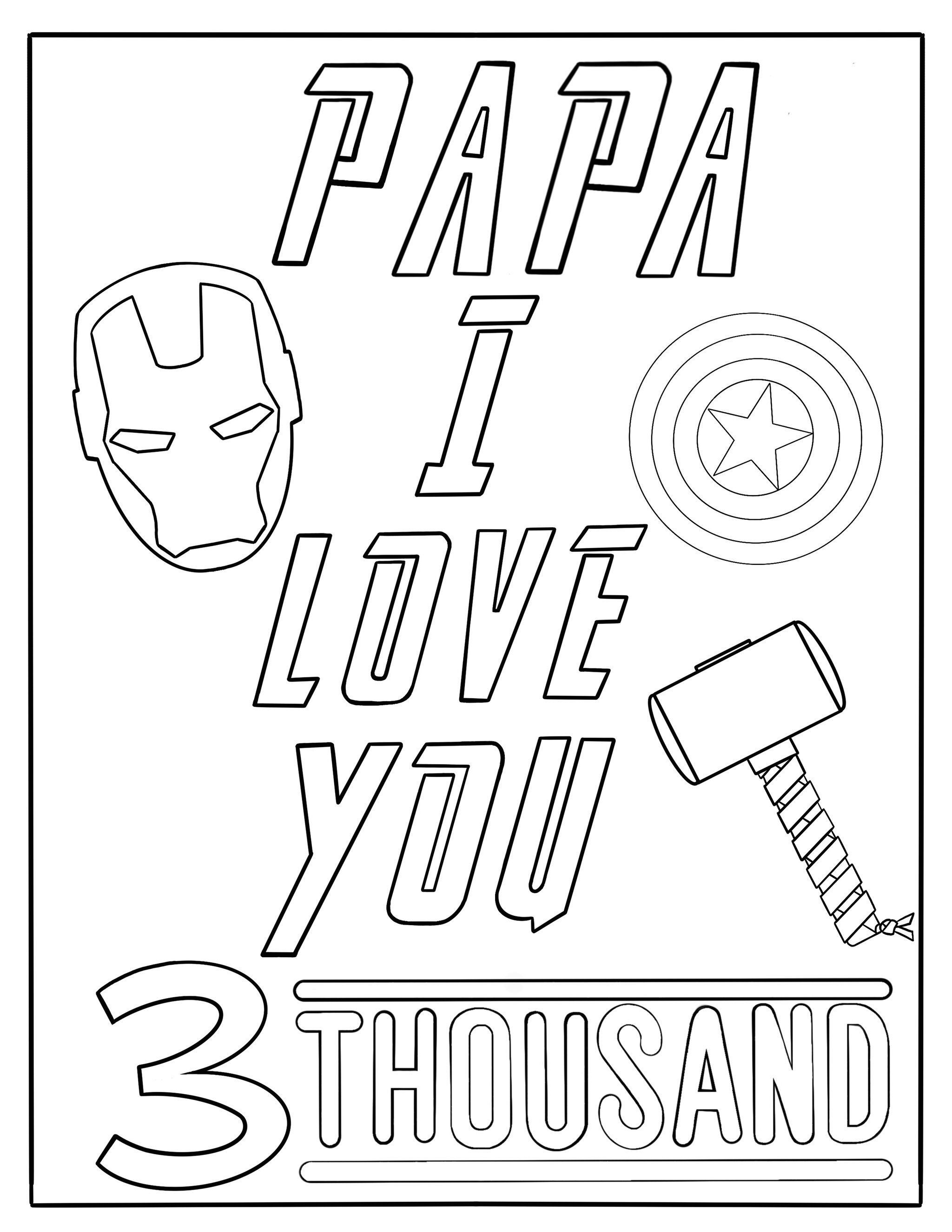 Coloring Page Papa I Love You 3 Thousand