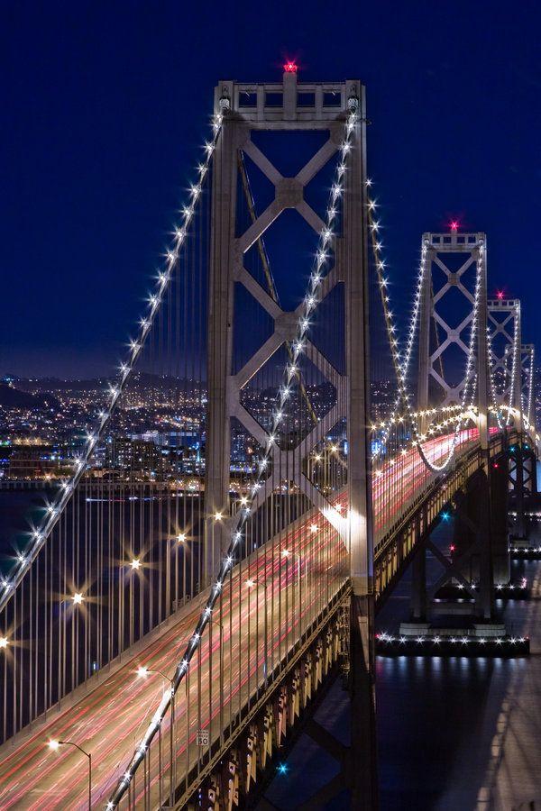Bay Bridge Night View By Xelement Bay Bridge St Francisco Bridge