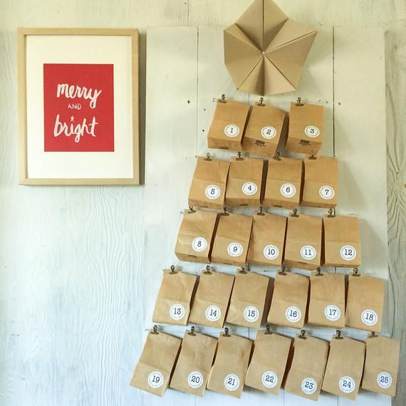 Items similar to DIY advent calendar kit on Etsy #wineadventcalendardiy