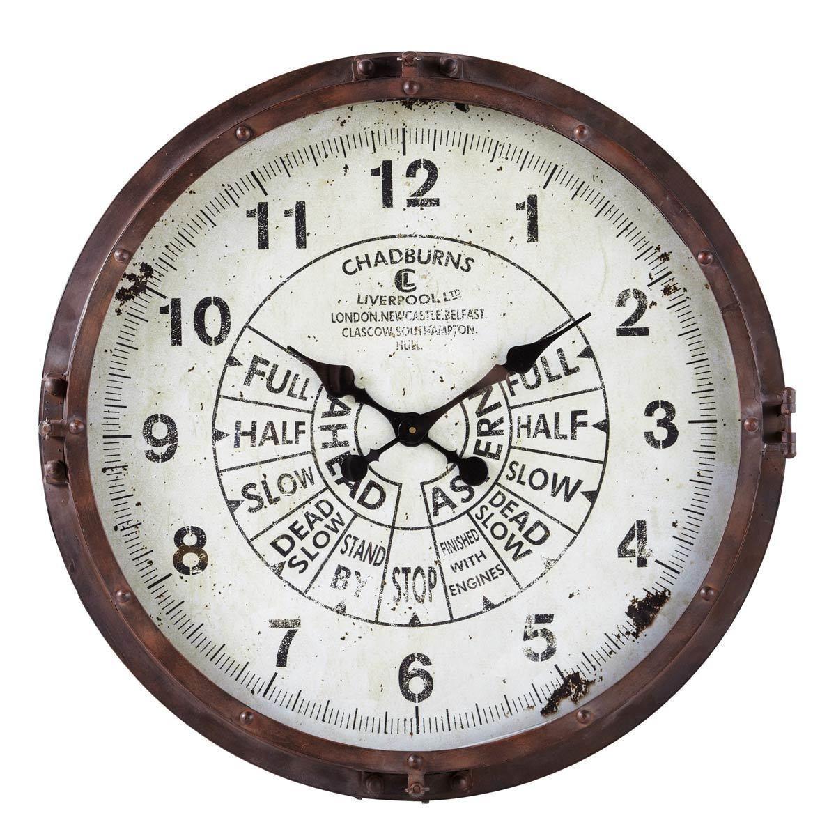 horloge en m tal effet rouille d72 zee metal clock clock white chest of drawers