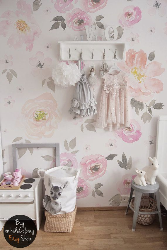 Vintage Floral Wallpaper Removable Wall Mural Vintage