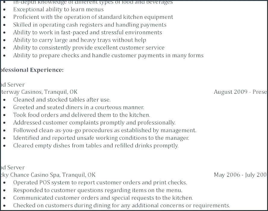 Fast Food Resume Basic resume examples, Simple resume