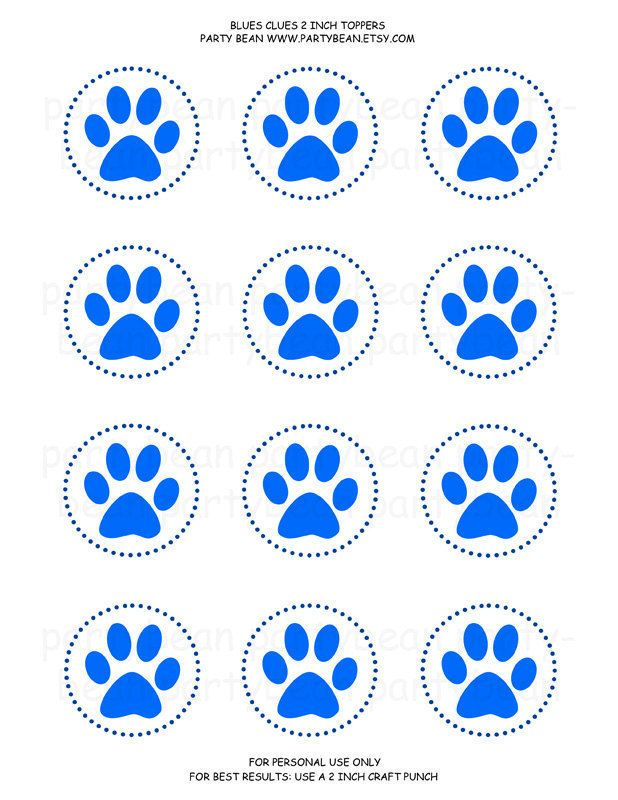 Blues Clues Paw Print Cupcake Toppers Lizzy 2nd bday – Blues Clues Birthday Card