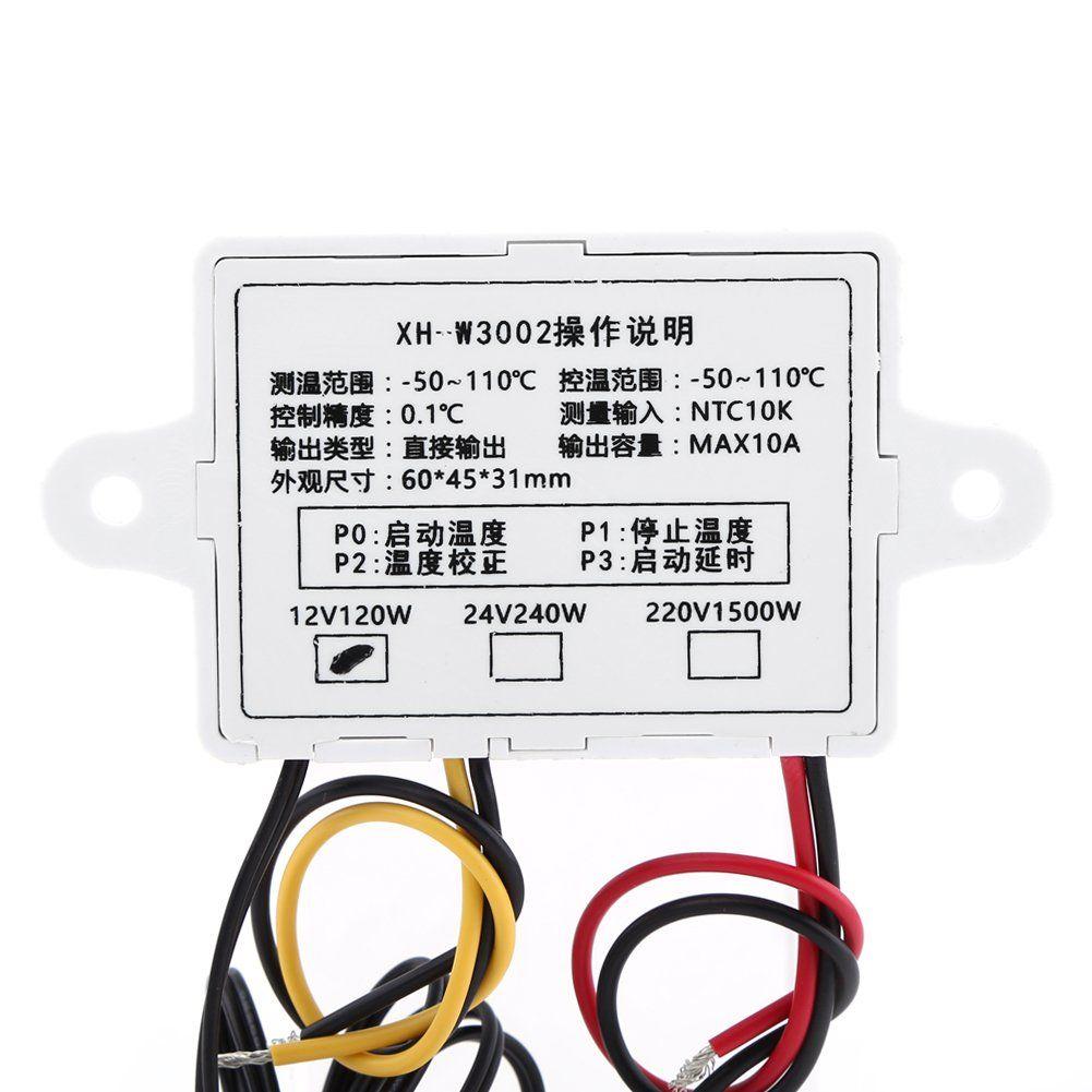 Xhw3002 Dc 24v Digital Temperature Controller Prewired Thermostat