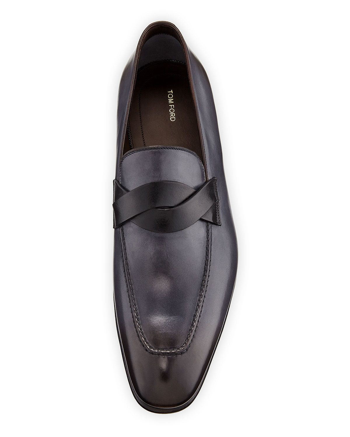 f96a5a51d778 Tom Ford Men s Twist-Front Leather Loafers in 2019