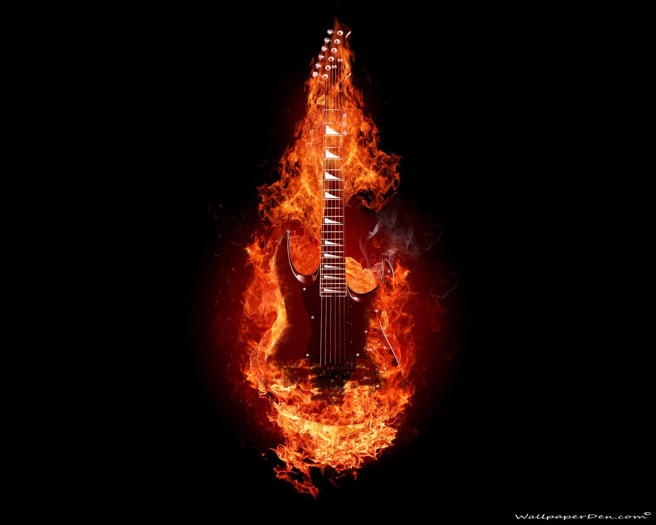 guitar on fire wallpapers - photo #5