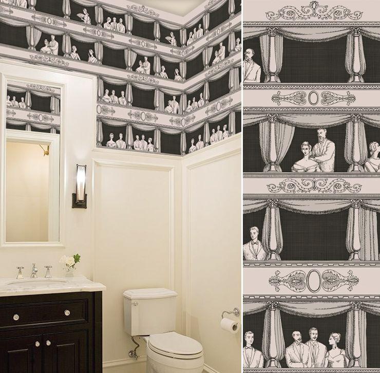 wallpaper teatro cole and son best idea for toilets love it cole son fornasetti teatro. Black Bedroom Furniture Sets. Home Design Ideas