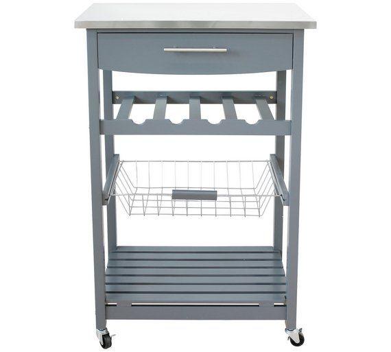 Hygena Odina Stainless Steel Top Kitchen Trolley At Argos Co Uk Visit