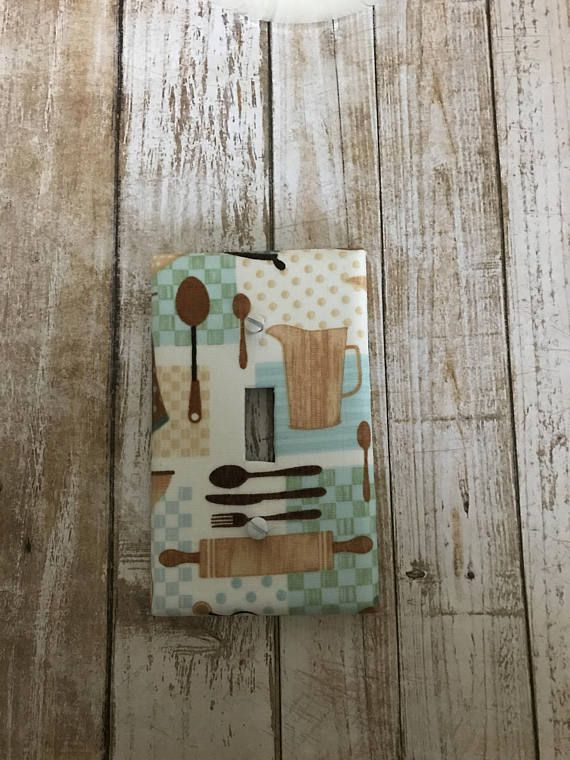 Metal Light Switch Plate Cover Country Home Decor Aged Barn Stars Red Farmhouse