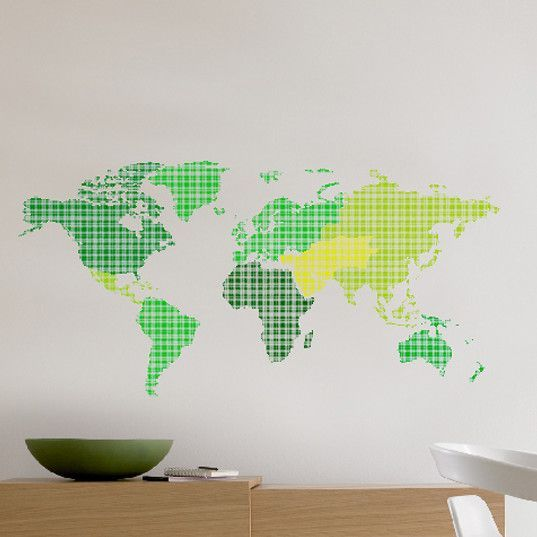 Euro world map wall decal products pinterest products d world map wall sticker the home depot gumiabroncs Image collections