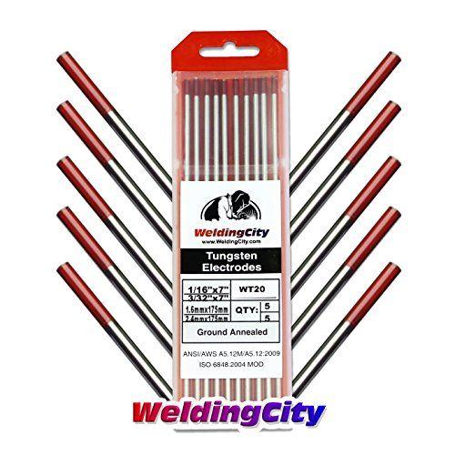 Weldingcity 2 Thoriated Red Tungsten Tig Welding Elect Tig Welding Welding Welding Electrodes
