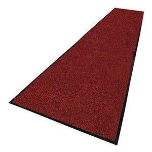Entrance Mat 4 X 60 Ft Red Black By Notrax 801 00 Indoor Vinyl Backed Carpet Entrance Mattingdesigned To Capture 8 Entrance Mat Beveled Edge Foot Traffic