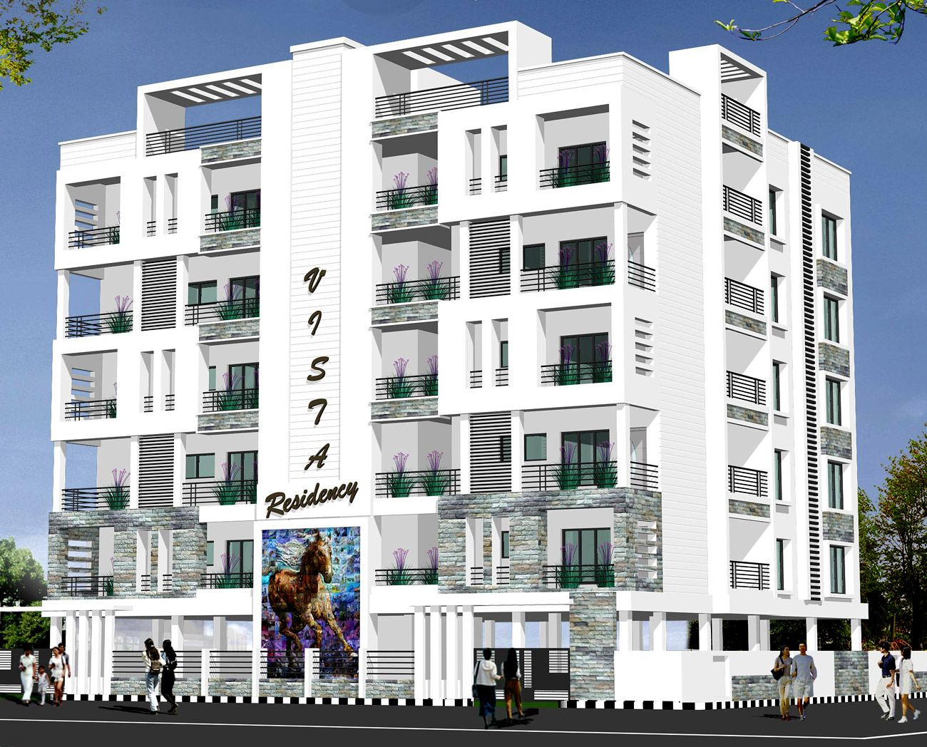 Studio Apartment Elevations luxury apartment elevations vista residency-anuhar homes