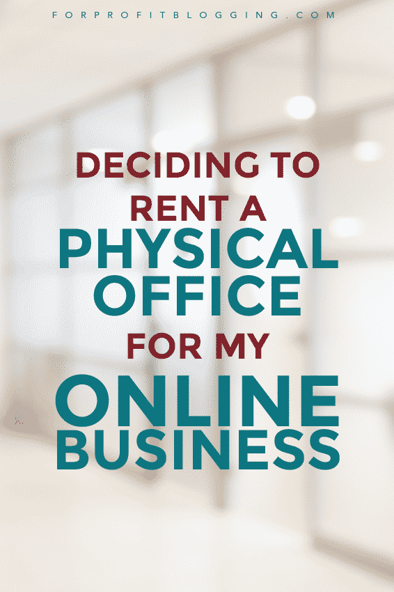 I recently decided to rent a physical office for my online business, with a friend. We're going to split the space, and the cost. via @kathleencelmins