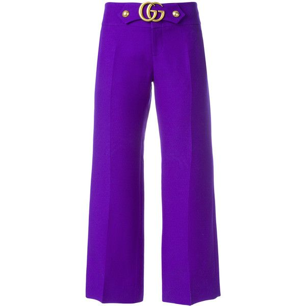 Wool and silk cropped trousers Gucci 2P6YkULLg