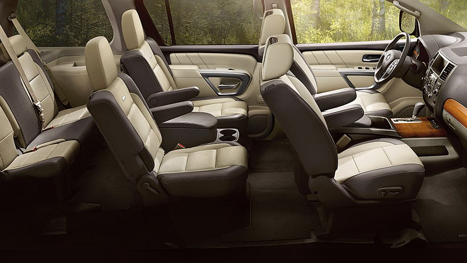 Nissan Armada Platinum with Platinum Reserve Package and Captain s Chairs Package shown in Chocolate Almond Leather - nissan pathfinder captain chairs