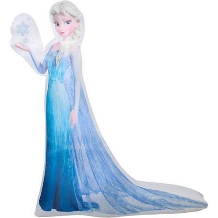 5' Airblown Inflatable Photorealistic Elsa with Snowflake Disney Christmas Inflatable - Walmart.com
