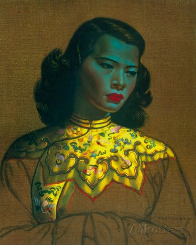 Chinese Girl Giclee Print by Vladimir Tretchikoff at AllPosters.com