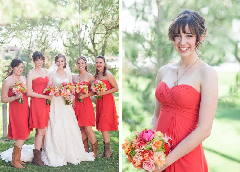 I love this color bridesmaids dress. It's like a dark coral ...