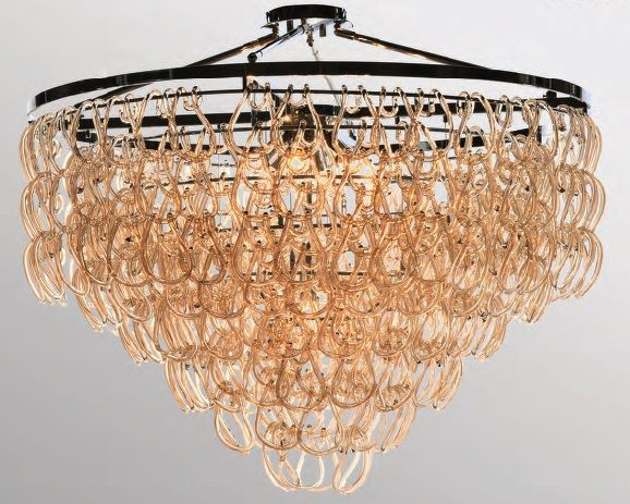 Luxe Lighting Tessa Chandelier Abstract Futurism