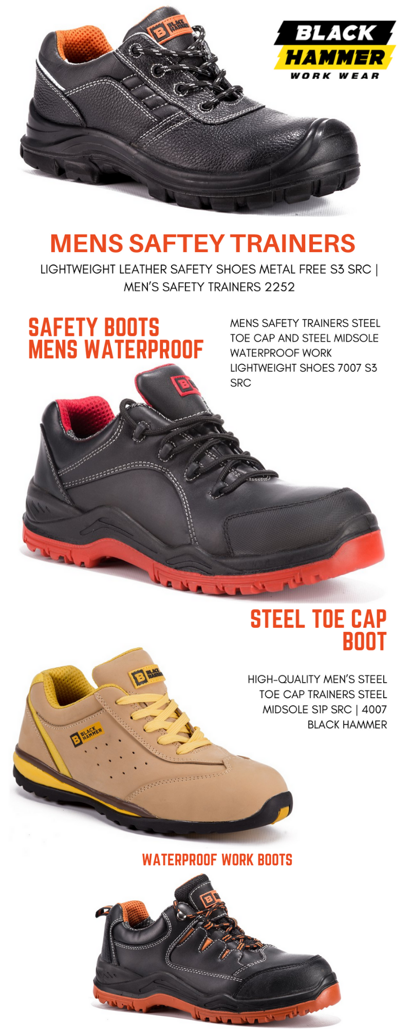 Mens Safety Trainers | Steel toe cap