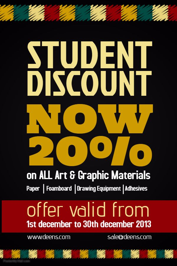 student discount poster flyer social media template small