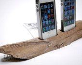 Driftwood Dual iPhone Docking Station.