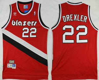 Portland Trail Blazers  22 Clyde Drexler Red Hardwood Classics Soul Swingman  Throwback Jersey c4836e7bd