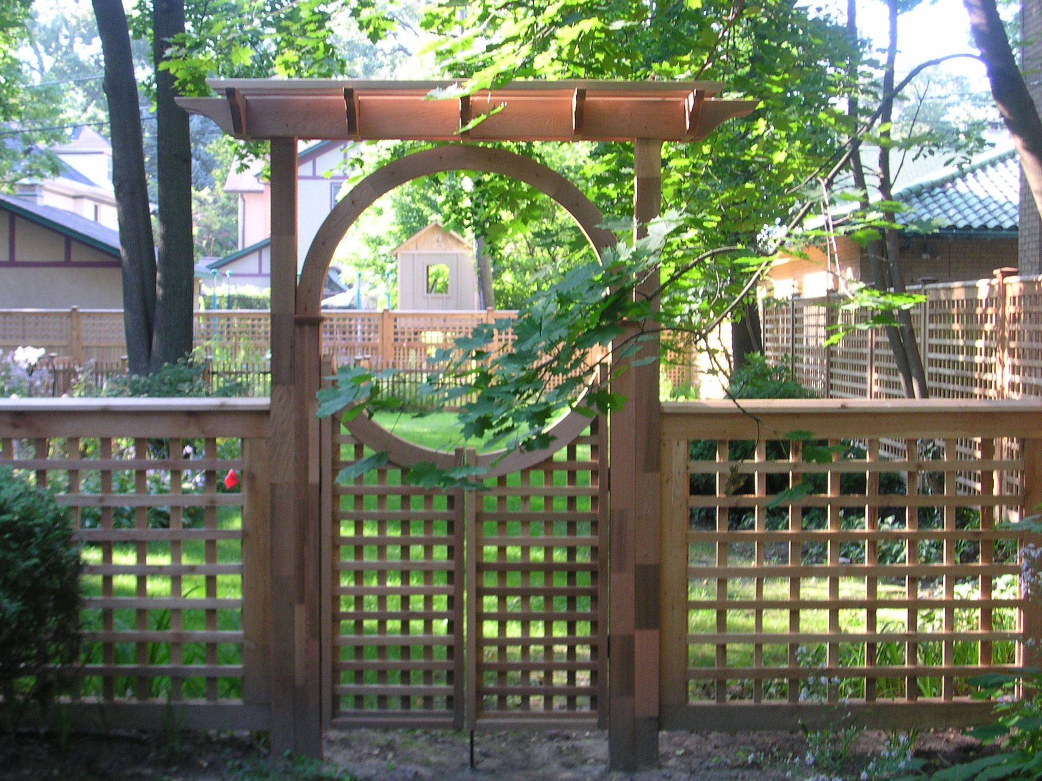 Custom trellis to match pergola landscapes by earth design - Arbors Details Trellis Arbors Seaside Pergola High Tide Gates