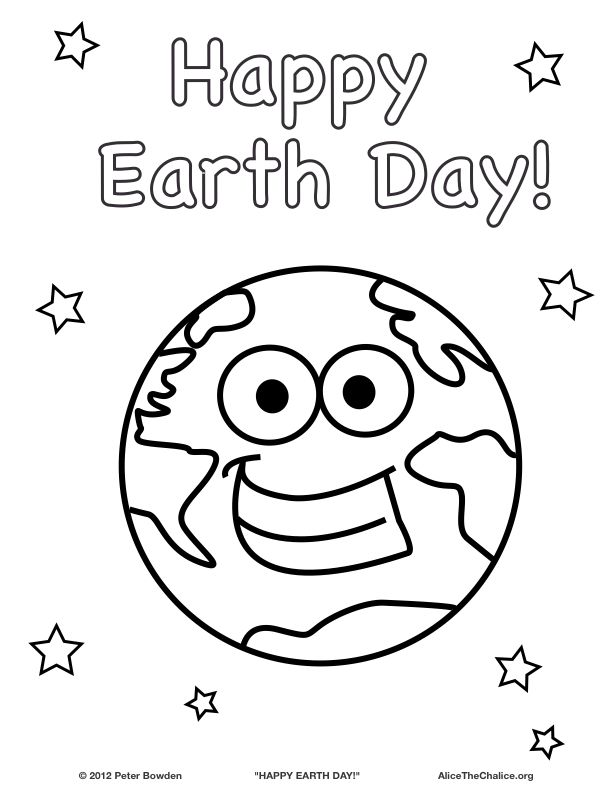 Happy Earth Day Click For Full Size File Earth Day Coloring