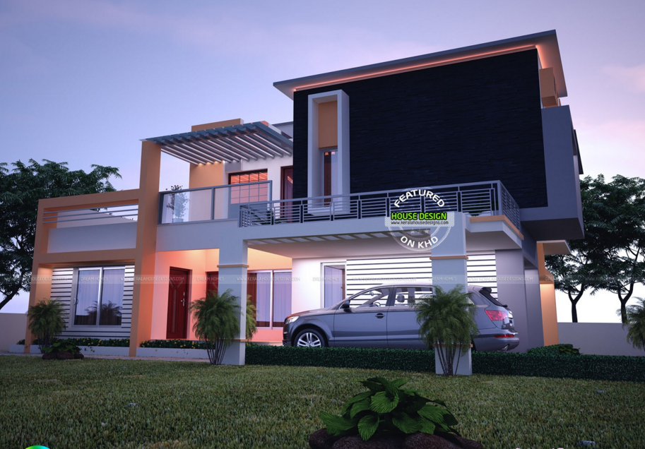 Contemporary Model India House Plan India House Kerala House