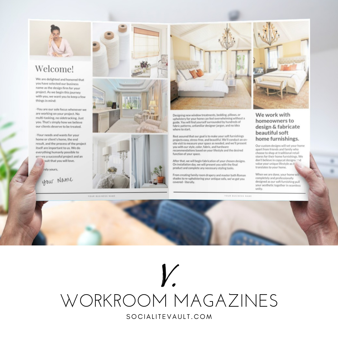 Marketing Templates For Interior Designers Home Stagers Custom