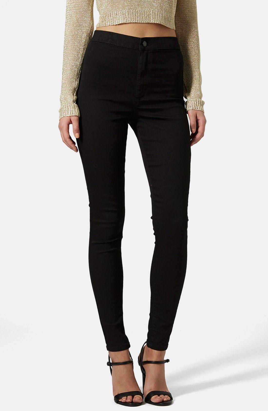 e8edbba53369 Topshop Moto  Joni  High Rise Skinny Jeans (Black)