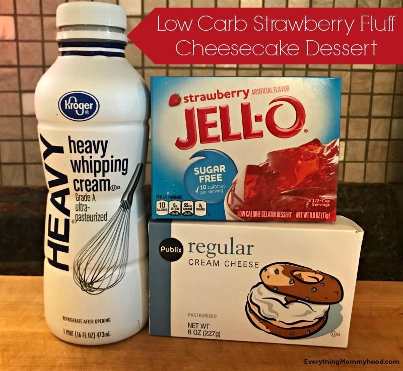 Recipe: Low-Carb Strawberry Fluff Cheesecake Dessert
