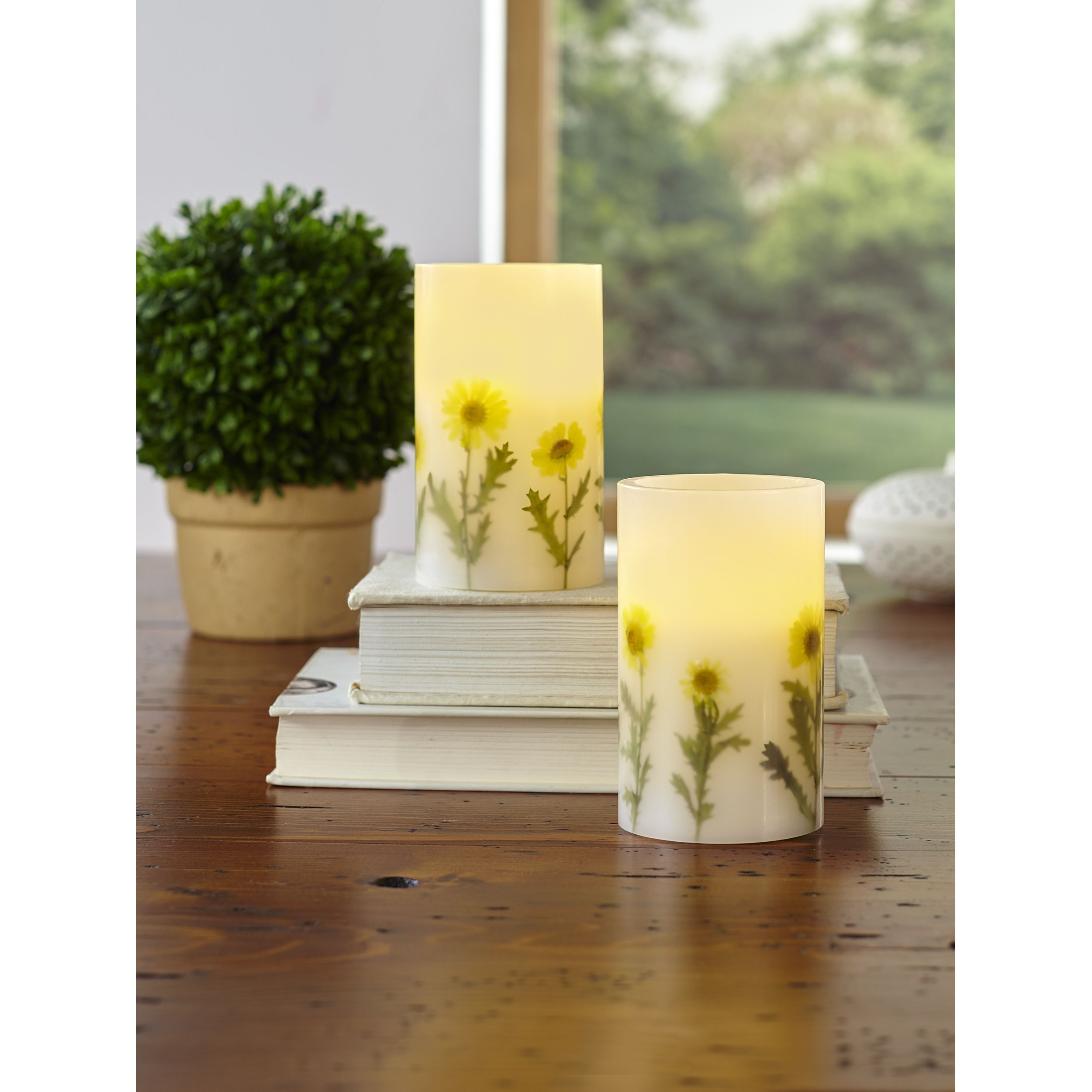 Order piece led candle set with daily timer piece led candle