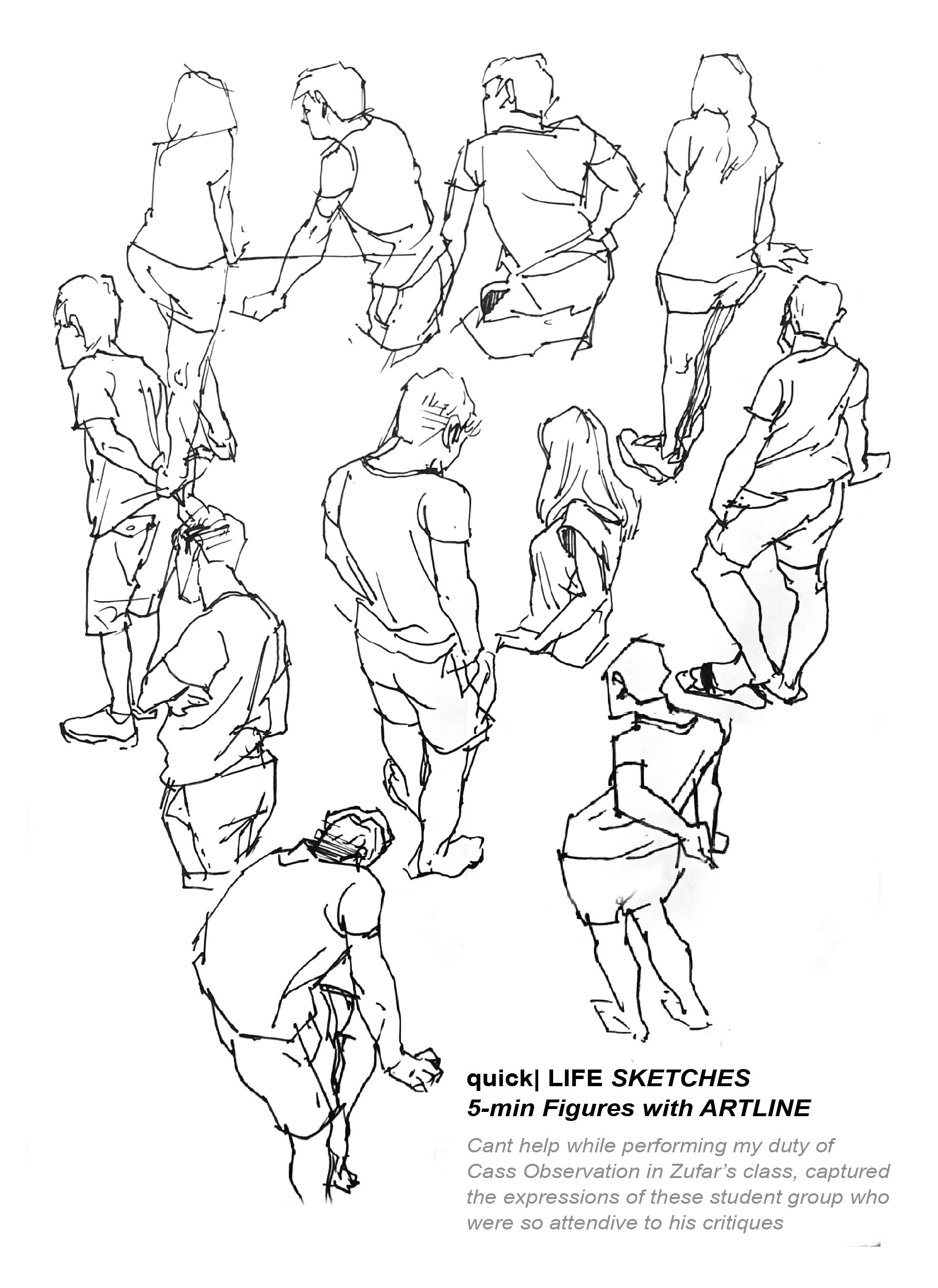 5 Min Figure Sketch With Class Students As Life Models