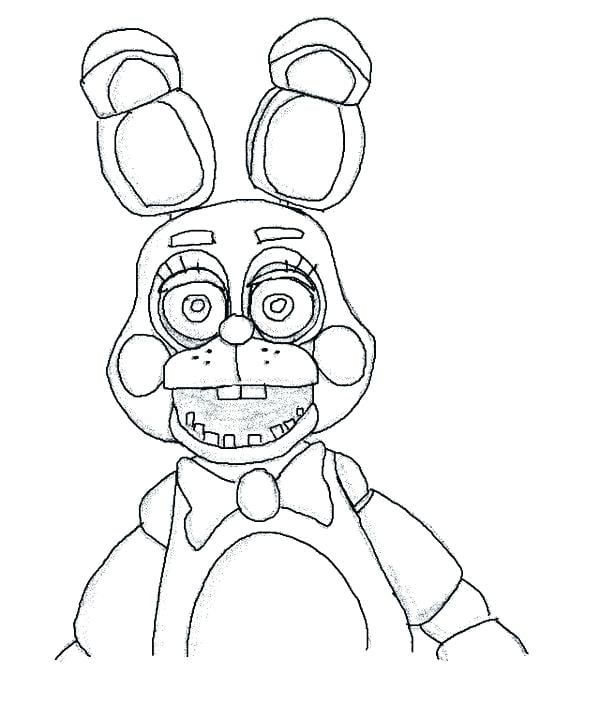 Fnaf Coloring Pages Bonnie | Fnaf coloring pages, Coloring ...