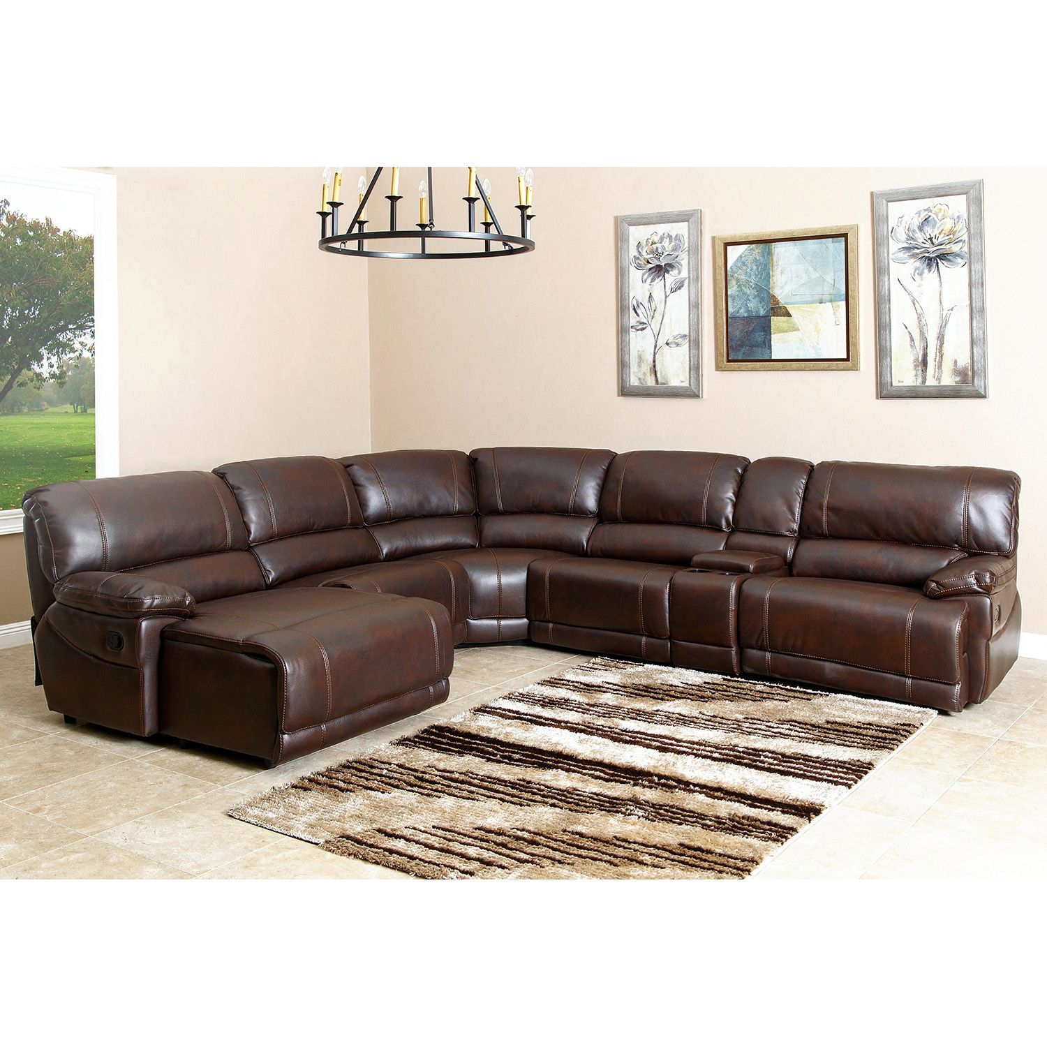 Best Carrington 6 Piece Sectional Sofa Sam S Club Family 640 x 480