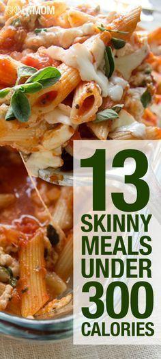 13 Skinny Dinners Under 300 Calories #300caloriemeals