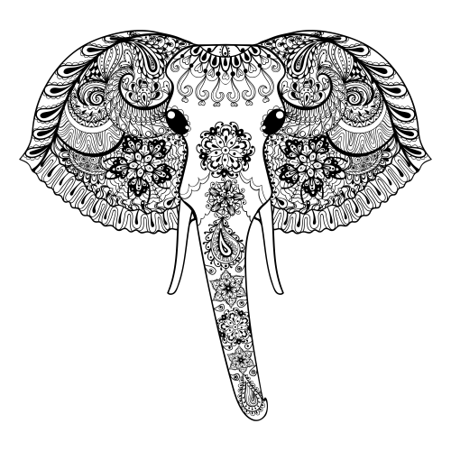Advanced Animal Coloring Page 25 | Adult Coloring | Pinterest ...