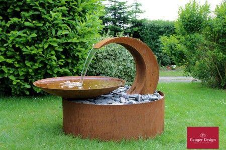 Wasserschale für die Terrasse Modell Lucia Komplett-Set inkl. Beleuchtung