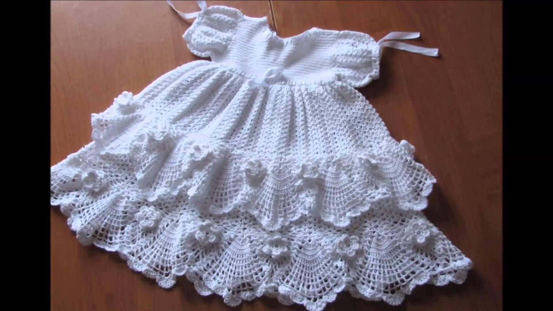 Modelos De Vestidos A Crochet Para Bautizo Y Presentacion