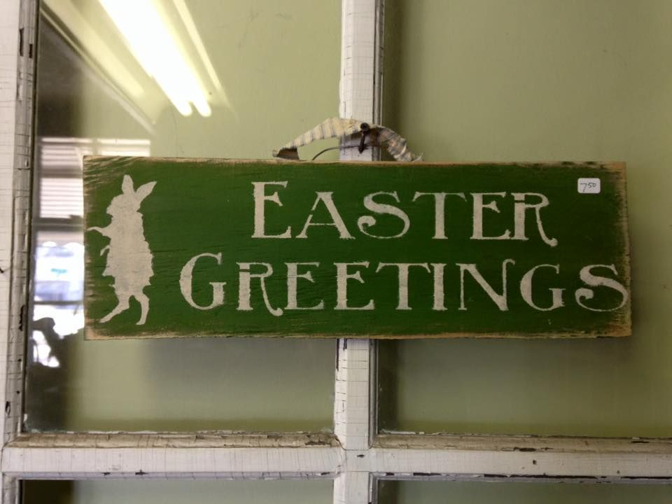 Easter sign, Spring sign, Easter Greetings sign,