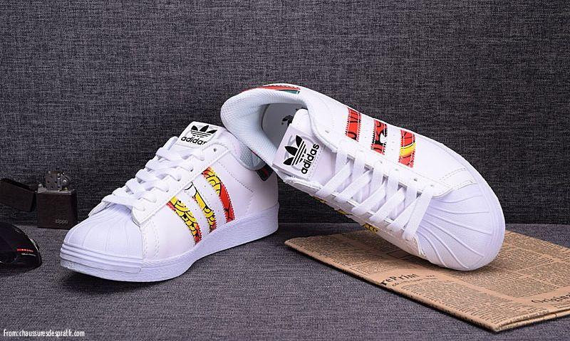 Scarpe Adidas Superstar Rita Ora Paint Donna bianco [White