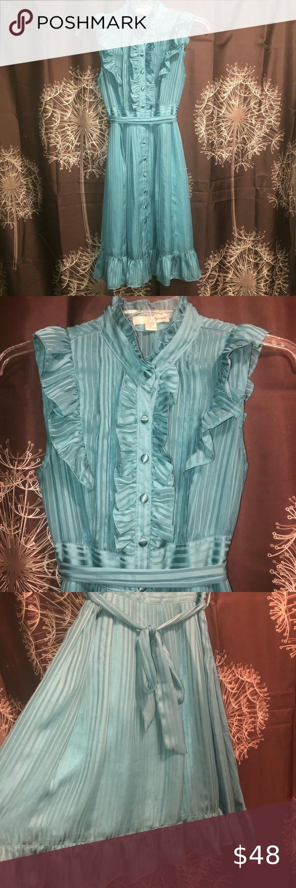 Twentyone Green Spring Ruffle Dress Vintage Style Vintage Dresses Vintage Fashion Lace Top Dress [ 1740 x 580 Pixel ]