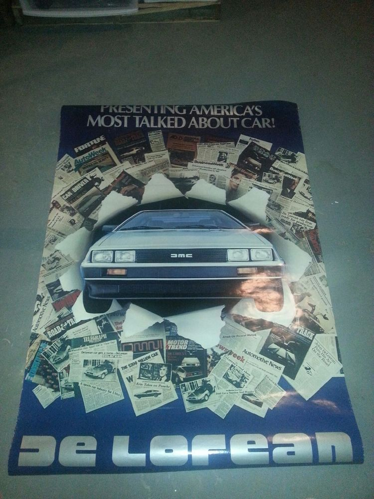DeLorean Presenting America's Most Talked About Car! Dealership Poster #DeLorean #DMC #BTTF