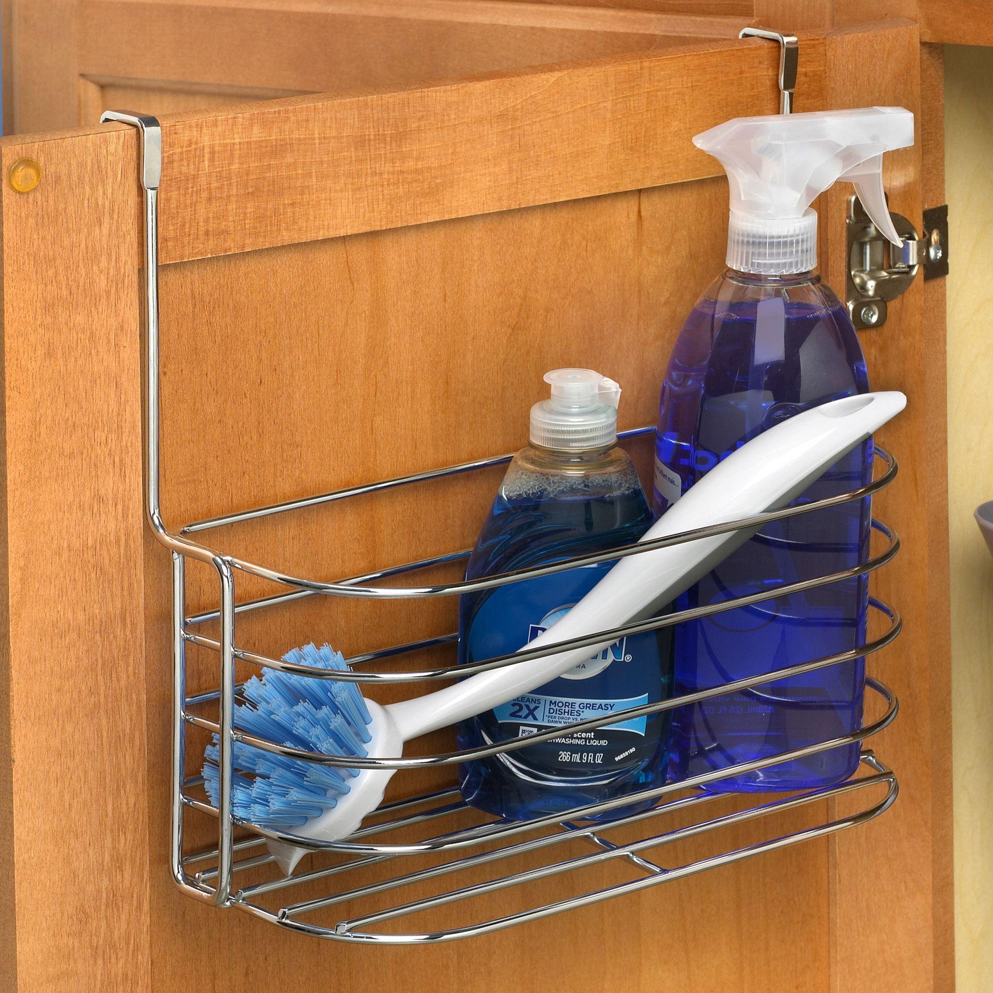 Duo Over The Cabinet Towel Bar And Basket Door Organizer Towel Bar