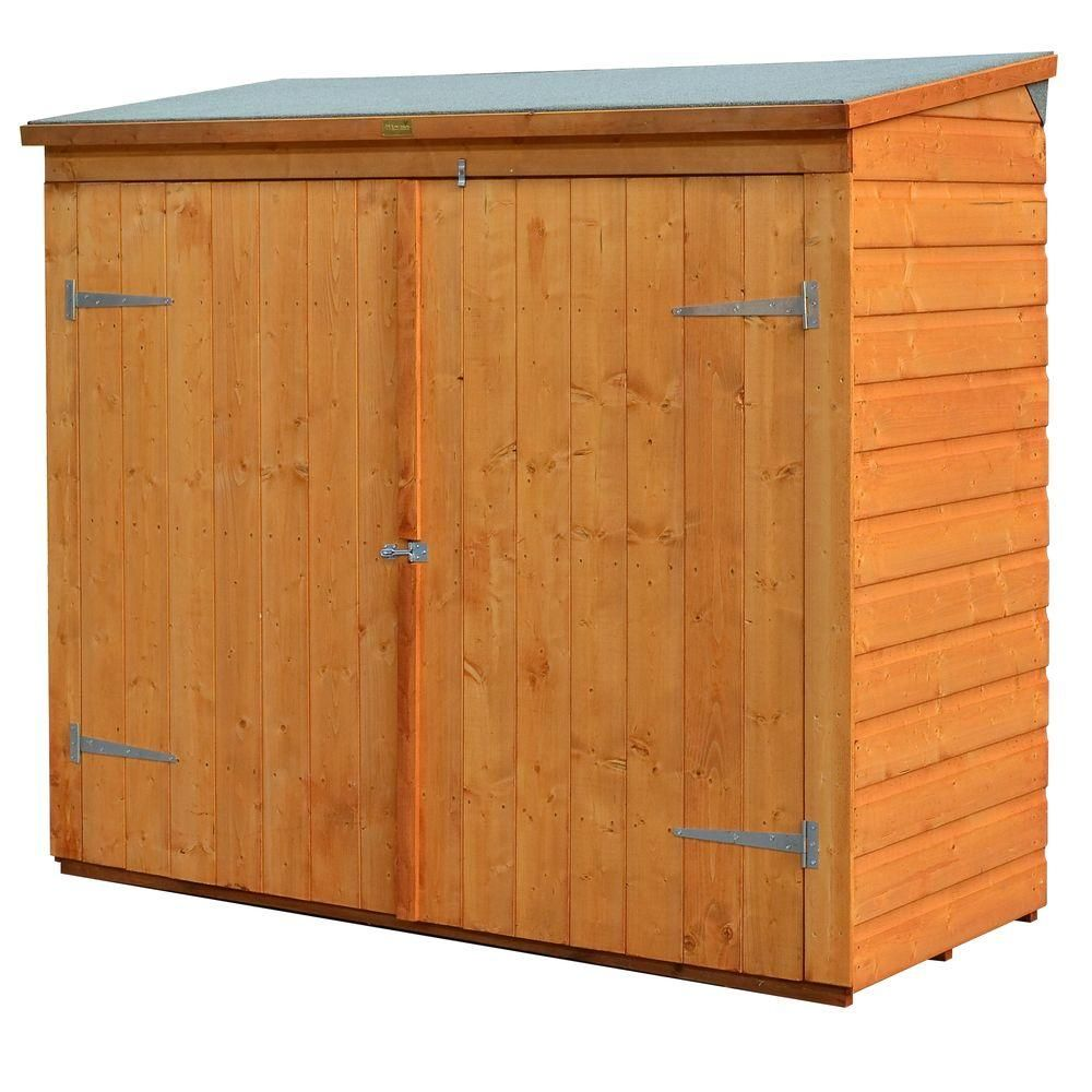 bosmere wall store 6 ft x 2 ft 8 in wood storage shed - Garden Sheds 8 X 3