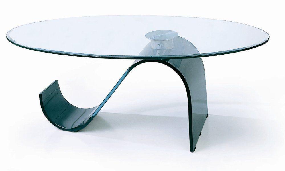 Glass coffee table minimalist futuristic glass coffee