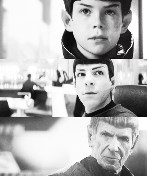 The phases of Spock (wee bebe Spock was beyond adorable!)
